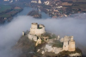 Castle Chateau Gaillard in Normandy, France